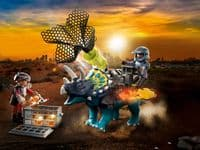 Playmobil Dino Rise Triceratops: Battle for Lry Stones